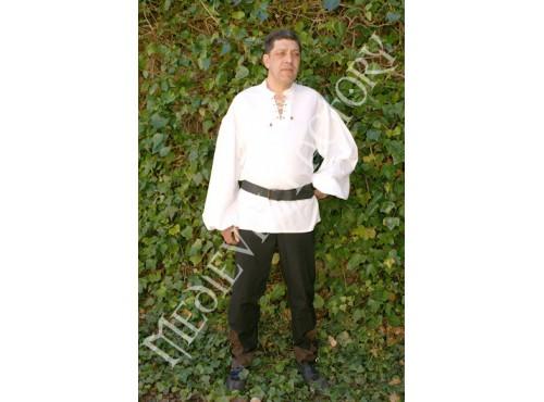 Camisa medieval sin cuello