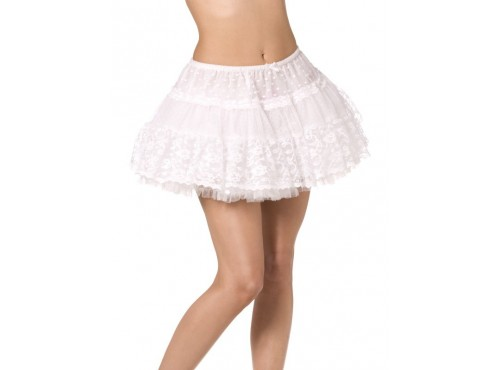 Minifalda blanca de encaje Fever