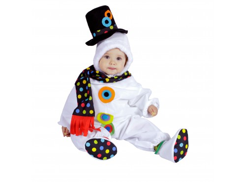 Disfraz de bebé muñeco de nieve