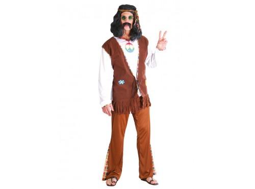 Disfraz de hippie feliz