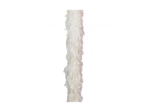 Boa de pluma blanca